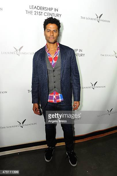 Singer Eric Benet attends The Lourdes Foundation Leadership in the 21st Century Event with His Holiness the 14th Dalai Lama at the California Science...