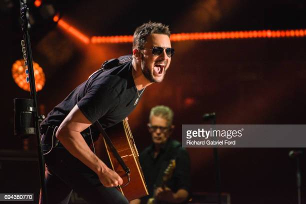 Singer Eric Church performs at Nissan Stadium during day 2 of the 2017 CMA Music Festival on June 8 2017 in Nashville Tennessee