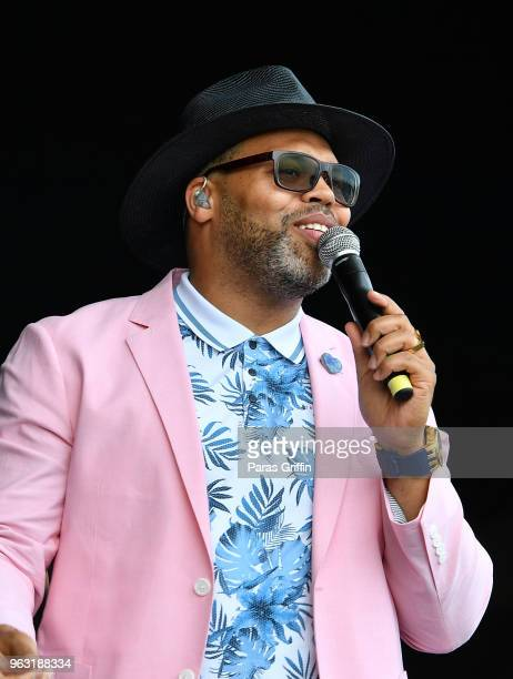 Singer Eric Roberson perfoms in concert during ATL Soul Life Music Fest at Wolf Creek Amphitheater on May 27 2018 in Atlanta Georgia