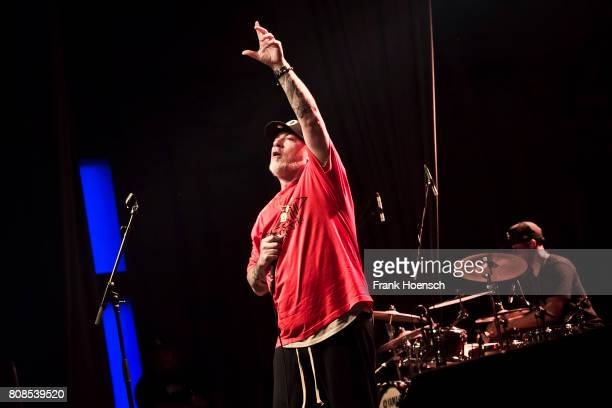 Singer Erik Schrody aka Everlast of the American band House of Pain performs live on stage during a concert at the Huxleys on July 4 2017 in Berlin...