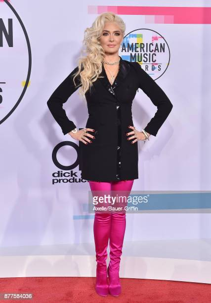Singer Erika Jayne arrives at the 2017 American Music Awards at Microsoft Theater on November 19 2017 in Los Angeles California