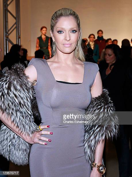 Singer Erika Jayne attends the Rachel Roy Fall 2011 presentation during MercedesBenz Fashion Week at The Donald Mary Oenslager Gallery on February 15...