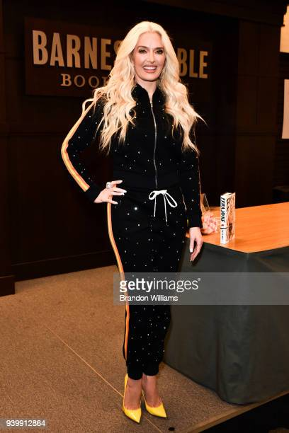 Singer Erika Jayne signs copies of her new book Pretty Mess at Barnes Noble at The Grove on March 29 2018 in Los Angeles California