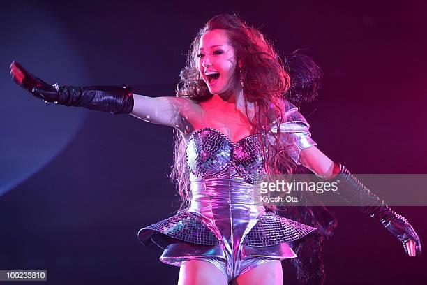 Singer ERIKA performs during the Girls Award 2010 at Yoyogi National Gymnasium on May 22 2010 in Tokyo Japan