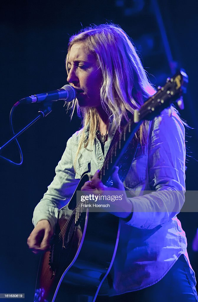Singer Erika Wennerstrom of Heartless Bastards performs live during a concert at the Postbahnhof on February 13, 2013 in Berlin, Germany.