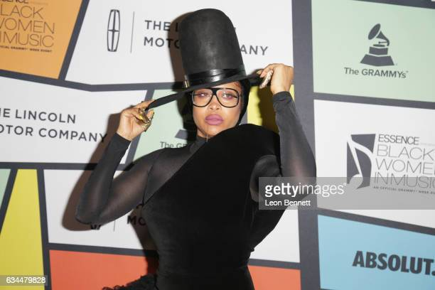 Singer Erykah Badu attends 2017 Essence Black Women in Music at NeueHouse Hollywood on February 9 2017 in Los Angeles California