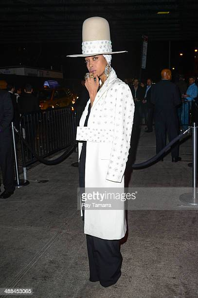 """Singer Erykah Badu leaves the """"Charles James: Beyond Fashion"""" Costume Institute Gala after party at the Boom Boom Room on May 5, 2014 in New York..."""
