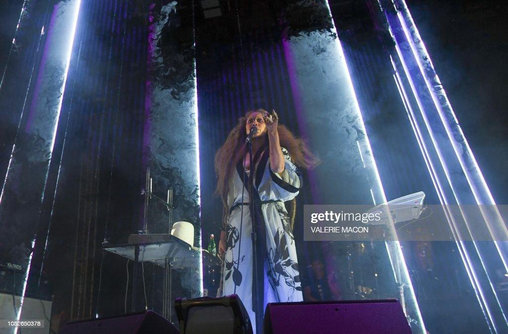 Demon Dayz Festival 2020.Singer Erykah Badu Performs At Demon Dayz Festival La At