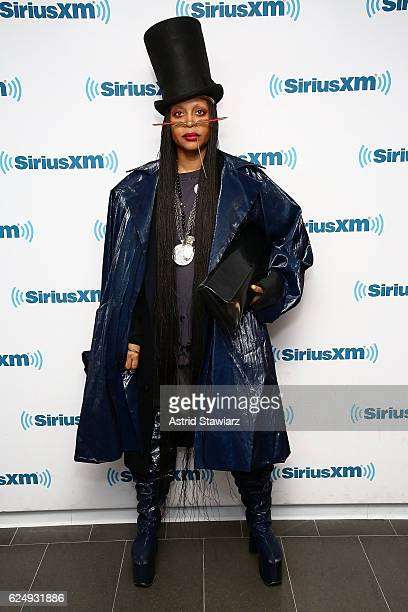 Singer Erykah Badu visits the SiriusXM Studios on November 21 2016 in New York City