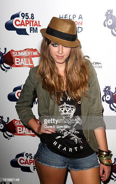 Singer Esmee Denters arrives at the '958 Capital FM's Summertime Ball' at Wembley Stadium on June 6 2010 in London England