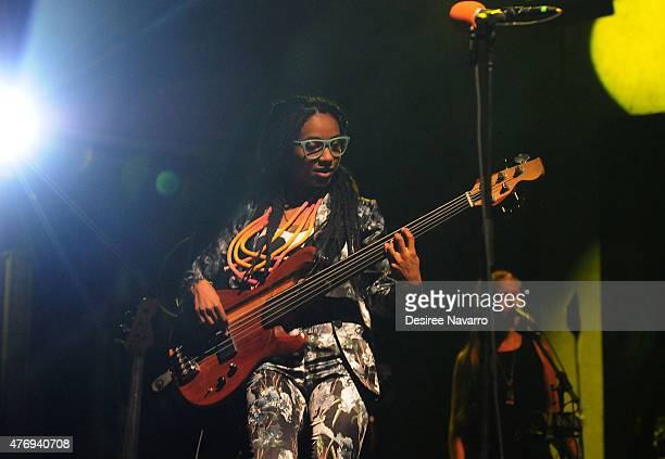 Singer Esperanza Spalding performs at 2015 Celebrate Brooklyn presenting Emily's DEvolution and Jose James at Prospect Park Bandshell on June 12 2015...