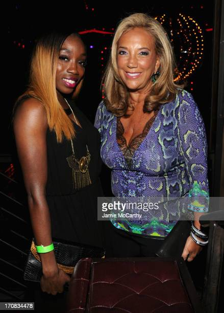 Singer Estelle and Denise Rich attend the 2nd Annual Millennial Ball 20 To Benefit Gabrielle's Angel Foundation For Cancer Research at Marquee on...