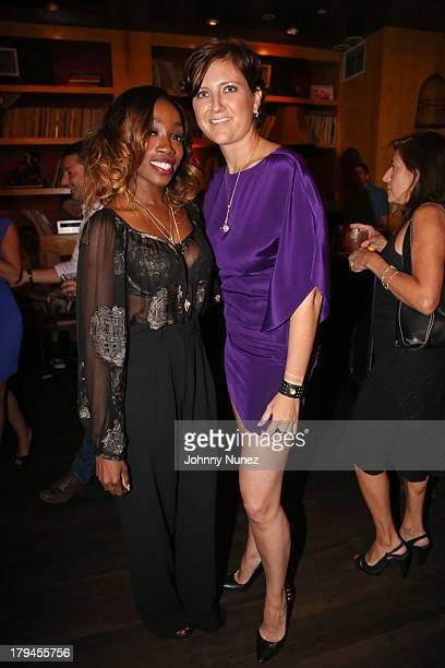 Singer Estelle and president of Royal Asscher of America Diamonds Lita Asscher attend Estelle Lita Jewelry Collection Unveiling at No 8 on September...