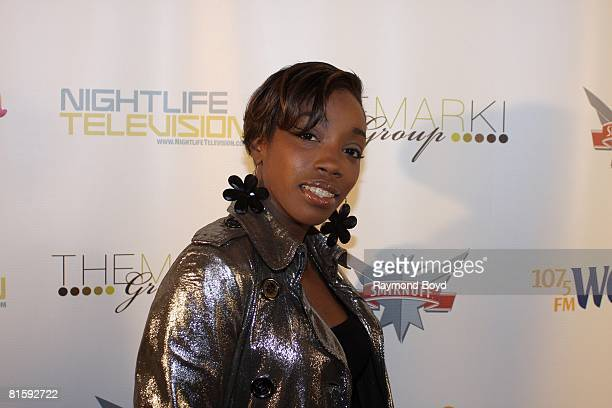 """Singer Estelle appeared at the birthday party of """"America's Next Top Model"""" Cycle Eight winner, Jaslene Gonzalez at Visions Nightclub in Chicago,..."""