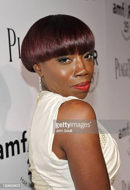 Singer Estelle arrives at The 2011 amfAR Inspiration Gala Los Angeles held at the Chateau Marmont on October 27, 2011 in Los Angeles, California.