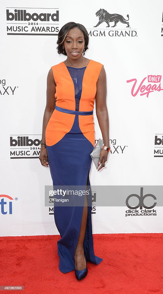 Singer Estelle arrives at the 2014 Billboard Music Awards at the MGM Grand Garden Arena on May 18, 2014 in Las Vegas, Nevada.