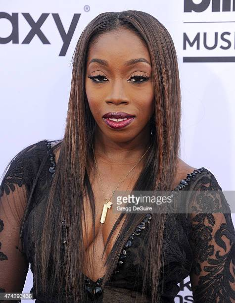 Singer Estelle arrives at the 2015 Billboard Music Awards at MGM Garden Arena on May 17 2015 in Las Vegas Nevada