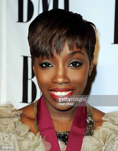 Singer Estelle arrives at the 58th Annual BMI Pop Awards at the Beverly Wilshire Hotel on May 18 2010 in Beverly Hills California