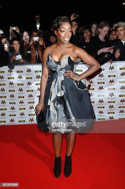 Singer Estelle arrives at the MOBO Awards 2008 held at Wembley Arena on October 15 2008 in London England