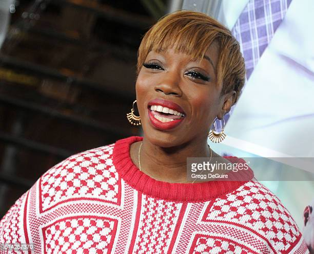 Singer Estelle arrives at the premiere of Lionsgate's 'The Perfect Match' at ArcLight Hollywood on March 7 2016 in Hollywood California
