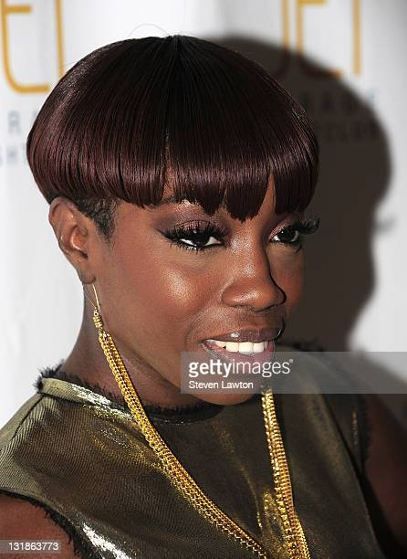 Singer Estelle arrives to perform at the Jet Nightclub at The Mirage Hotel Casino on March 27 2011 in Las Vegas Nevada