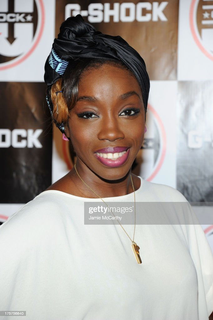Singer Estelle attends G-Shock Shock The World 2013 at Basketball City on August 7, 2013 in New York City.