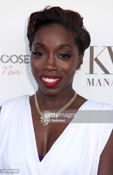 Singer Estelle attends Kevin Liles Hosts 2nd Annual KWL Management BET Awards Summer Pool Soiree on June 30 2012 in Beverly Hills California