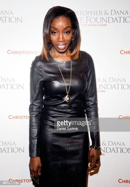 Singer Estelle attends the 2013 Christopher Dana Reeve Foundation's A Magical Evening Gala at Cipriani Wall Street on November 21 2013 in New York...