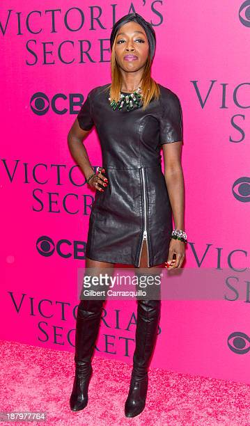 Singer Estelle attends the 2013 Victoria's Secret Fashion Show at Lexington Avenue Armory on November 13 2013 in New York City