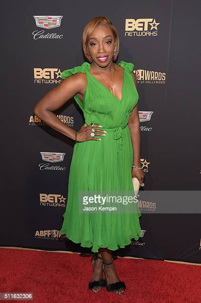Singer Estelle attends the 2016 ABFF Awards A Celebration Of Hollywood at The Beverly Hilton Hotel on February 21 2016 in Beverly Hills California
