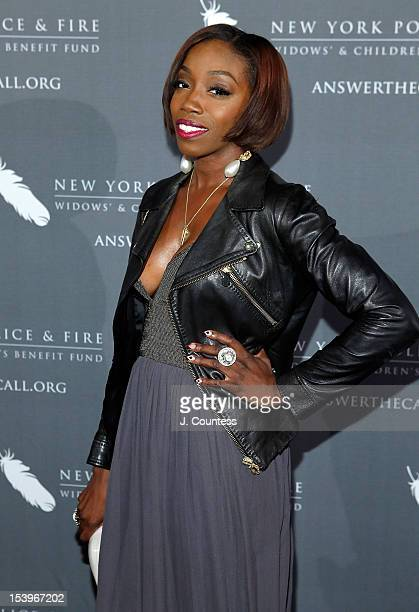 Singer Estelle attends the 27th Annual Gala Of The New York Police And Fire Widows' And Children's Benefit at Park Avenue Armory on October 11 2012...