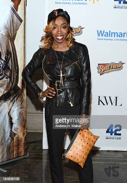 Singer Estelle attends the 42 event honoring Jackie Robinson at the Brooklyn Academy of Music on March 25 2013 in New York City