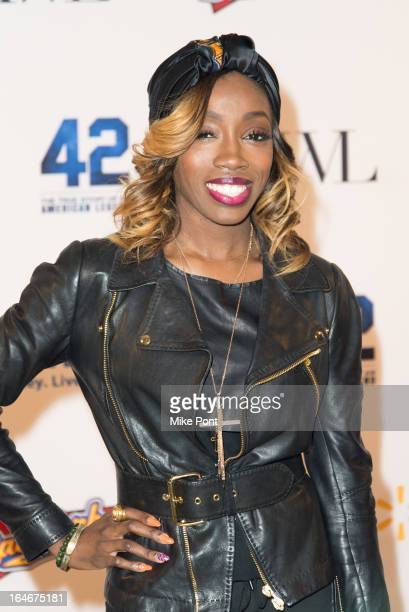 Singer Estelle attends the 42 event honoring the legacy of Jackie Robinson at the Brooklyn Academy of Music on March 25 2013 in New York City