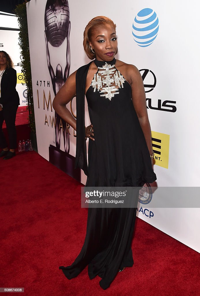 Singer Estelle attends the 47th NAACP Image Awards presented by TV One at Pasadena Civic Auditorium on February 5, 2016 in Pasadena, California.