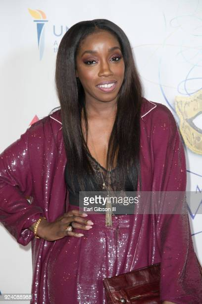 Singer Estelle attends the 7th Annual UNCF Mayor's Masked Ball at JW Marriott Los Angeles at LA LIVE on February 24 2018 in Los Angeles California
