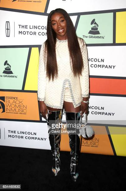 Singer Estelle attends the 8th Annual Essence Black Women in Music Event at NeueHouse Hollywood on February 9 2017 in Los Angeles California