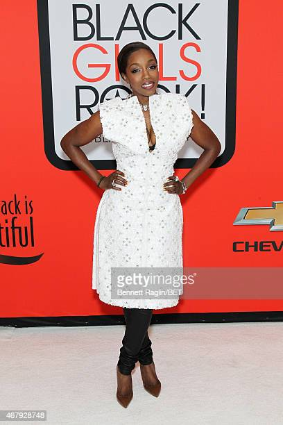 Singer Estelle attends the BET's Black Girls Rock Red Carpet sponsored by Chevrolet at NJPAC – Prudential Hall on March 28 2015 in Newark New Jersey