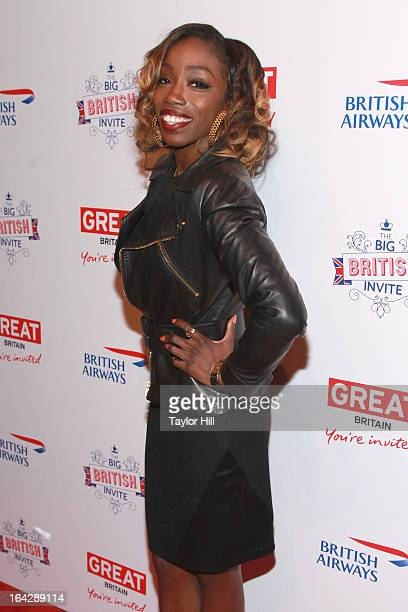 Singer Estelle attends The Big British Invite launch at 78 Mercer Street on March 21 2013 in New York City