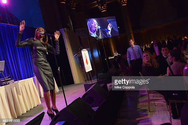 Singer Estelle attends the Christopher Dana Reeve Foundation's A Magical Evening Gala at Cipriani Wall Street on November 21 2013 in New York City