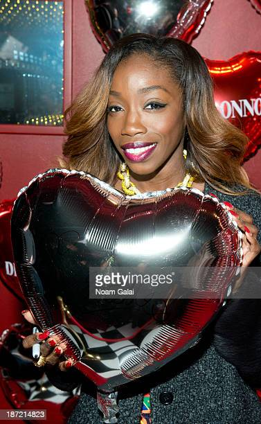 Singer Estelle attends the Moschino Loves Disaronno Bottle Launch at The Westway on November 6 2013 in New York City