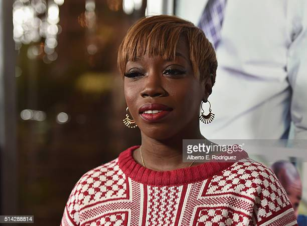 Singer Estelle attends the premiere of Lionsgate's 'The Perfect Match' at ArcLight Hollywood on March 7, 2016 in Hollywood, California.