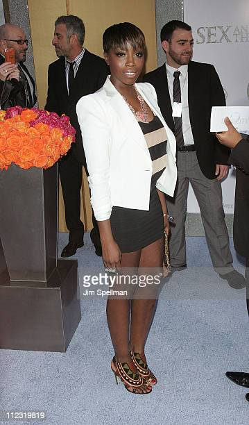 Singer Estelle attends the premiere of 'Sex and the City 2' at Radio City Music Hall on May 24 2010 in New York City
