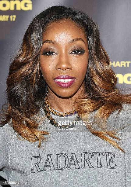 Singer Estelle attends the Ride Along screening at AMC Loews Lincoln Square on January 15 2014 in New York City