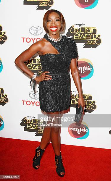 Singer Estelle attends the Soul Train Awards 2012 at PH Live at Planet Hollywood Resort and Casino on November 8, 2012 in Las Vegas, Nevada.