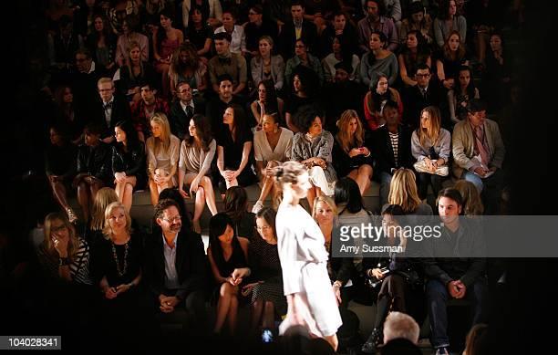 Singer Estelle DJ Leigh Lezark actress Katrina Bowden actress Alison Brie actress Jill Flint actress Aisha Tyler and singer Solange Knowles attend...