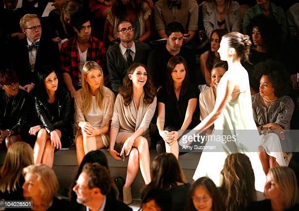 Singer Estelle DJ Leigh Lezark actress Katrina Bowden actress Alison Brie actress Jill Flint actress Aisha Tyler and singer Solange Knowles attends...