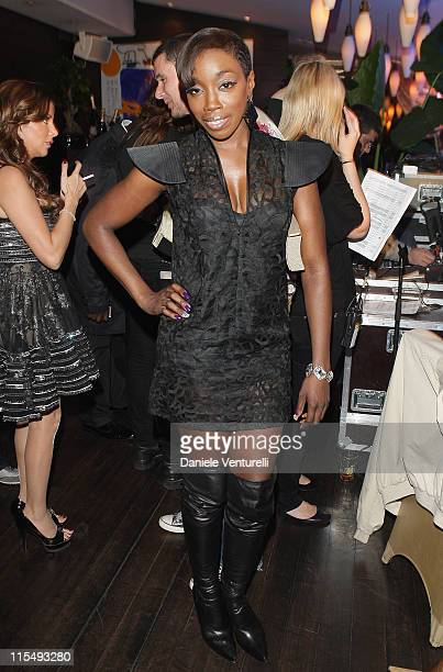 Singer Estelle during the World Music Awards party held at the Zebra Square on November 8 2008 in Monte Carlo Monaco