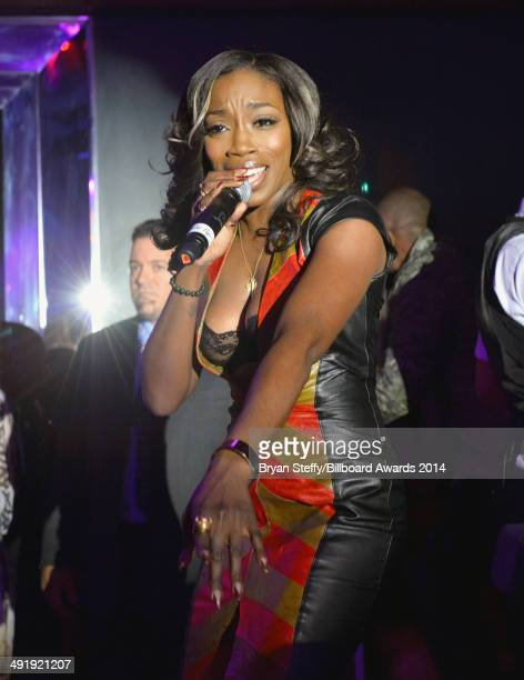 Singer Estelle performs at the Official PreParty for the 2014 Billboard Music Awards at Hyde Bellagio at Bellagio on May 17 2014 in Las Vegas Nevada