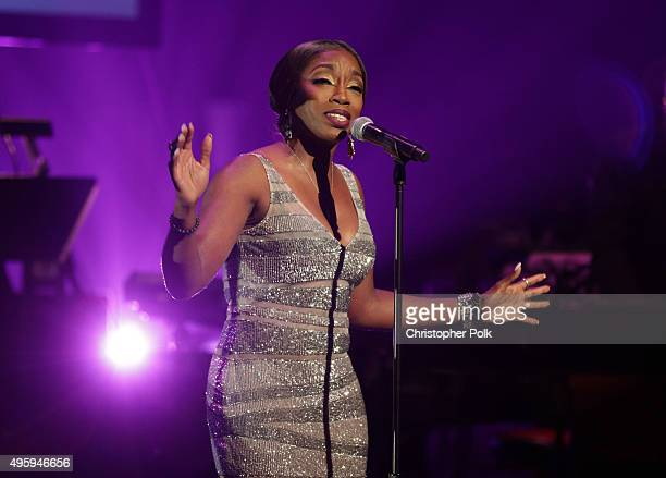Singer Estelle performs onstage during the Screen Actors Guild Foundation 30th Anniversary Celebration at Wallis Annenberg Center for the Performing...