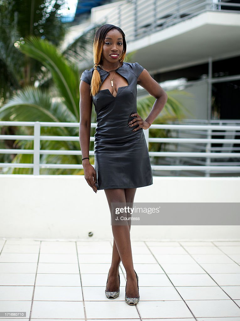 Singer Estelle poses during the 2013 American Black Film Festival on June 21, 2013 in Miami, Florida.